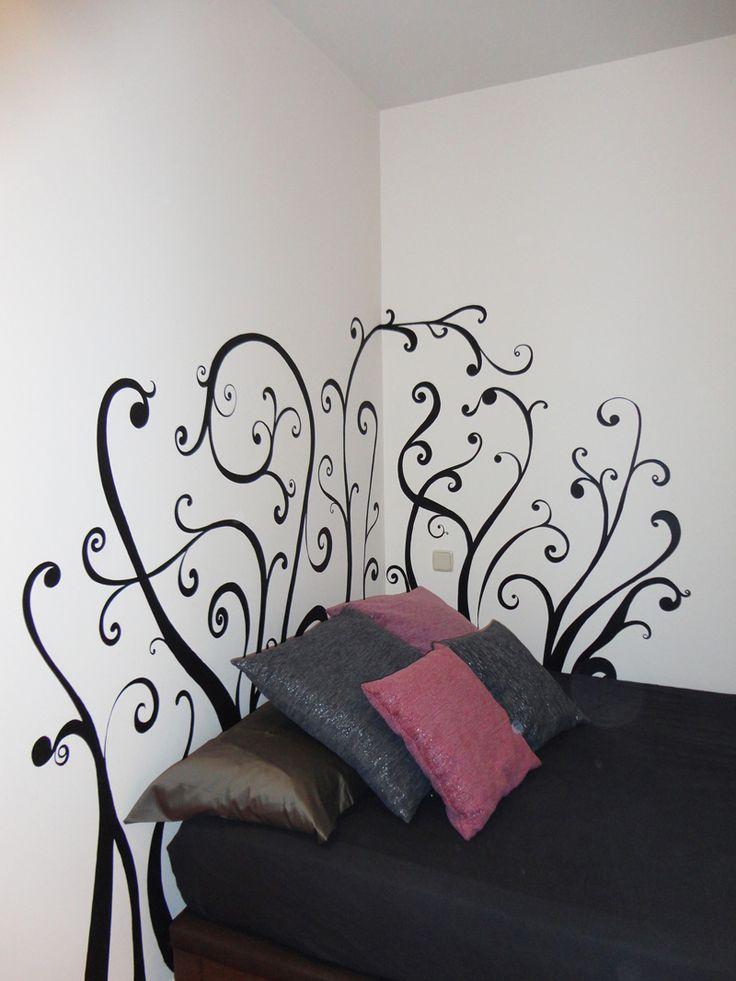 cabeceros de cama pintados en la pared - Buscar con Google