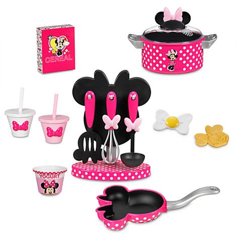 Minnie Mouse Gourmet Cooking Set | Disney Store - Ideas About Minnie Mouse Toys On Pinterest Minnie Mouse