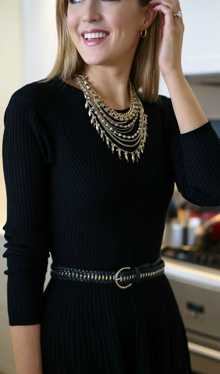 Pinterest accessories for black dress