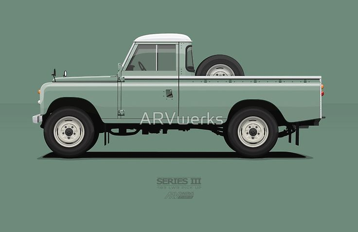 Series 3 PickUp 109 Light Green @redbubble #redbubble #landrover #landy #car #automotive #vehicle #truck #merchandise #sale #oldschool #live #landroverseries #vector #illustration #ARVwerks