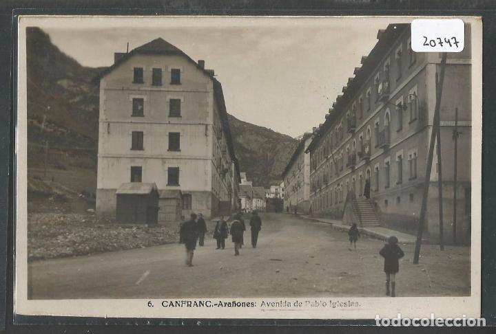 Postales: CANFRANC - ARAÑONES - HUESCA - AVENIUDA DE PABLO IGLESIAS -II Republica 1931-1936 - P20747 - Foto 1 - 87690496