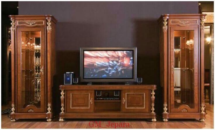 Bufet Tv Kaca Kayu Jati Jepara dapat anda miliki dengan custom design sesuai selera dan kebutuhan interior anda.