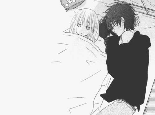Anime cuddle tumblr google search cuddles pinterest - Manga couple triste ...