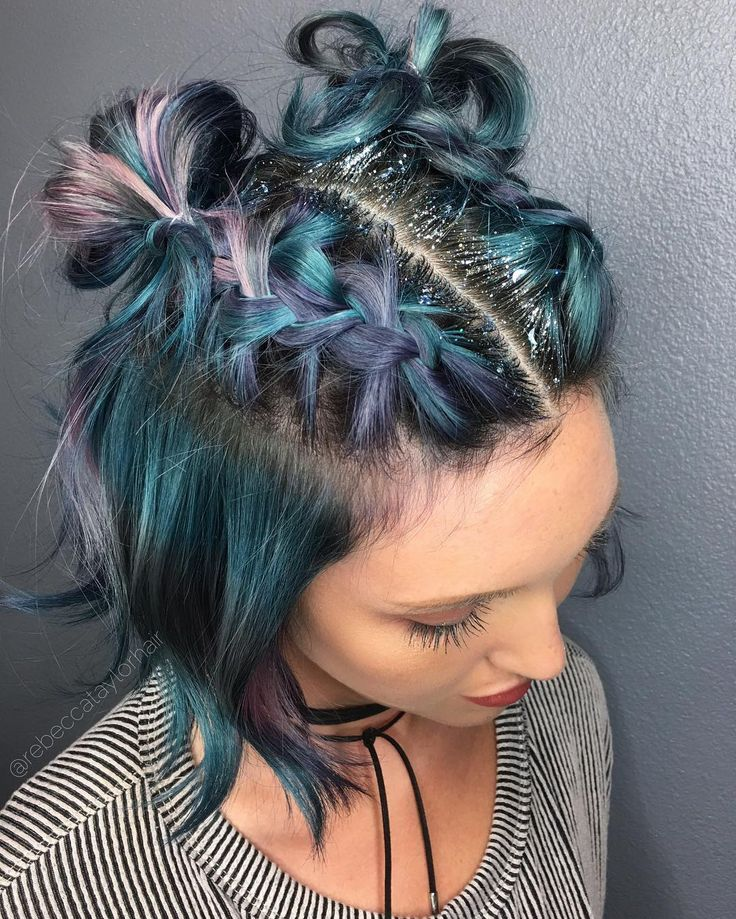 See this Instagram photo by @rebeccataylorhair • 12k likes Beauty: Fantasy Unicorn Purple Violet Red Cherry Pink yellow Bright Hair Colour Color Coloured Colored Fire Style curls haircut lilac lavender short long mermaid blue green teal orange hippy boho ombré woman lady pretty selfie style fade makeup grey white silver trend trending Pulp Riot