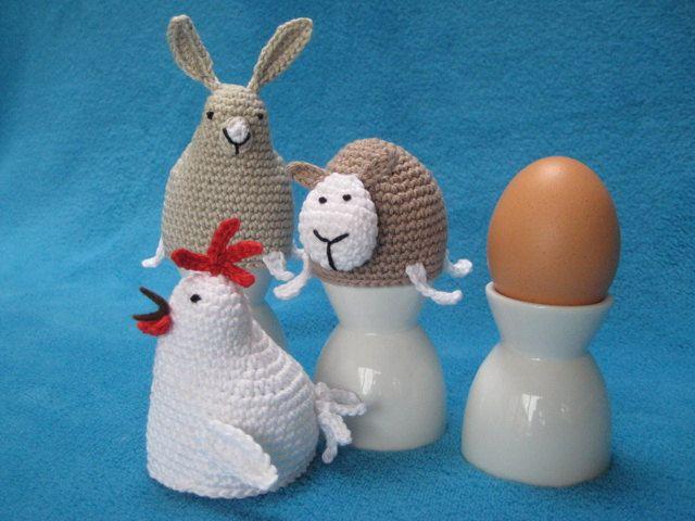 Egg Cosy Chicken, Bunny, Sheep