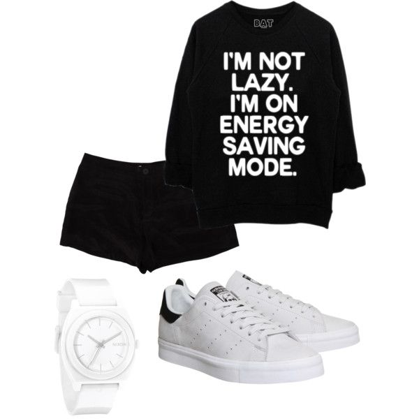bw by paluna on Polyvore featuring polyvore fashion style T By Alexander Wang adidas Nixon