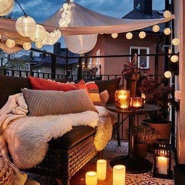 12 best decoration cosy pour ext rieur images on pinterest for Decoration patio exterieur