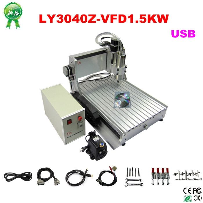 1004.00$  Watch now - http://alixkv.worldwells.pw/go.php?t=1000001344257 - Hottest! 3 axis cnc milling machine cnc 3040 with usb port, 1.5kw mini cnc machine for wood, metal 1004.00$