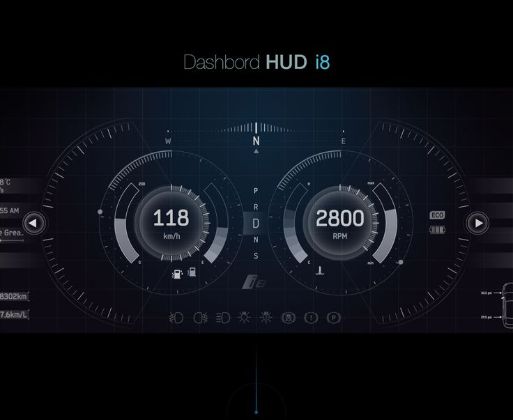 bmw i8 hud ui design