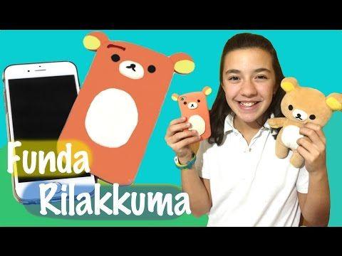 Cómo hacer una funda para móvil de silicona. Rilakkuma mobile cover - YouTube