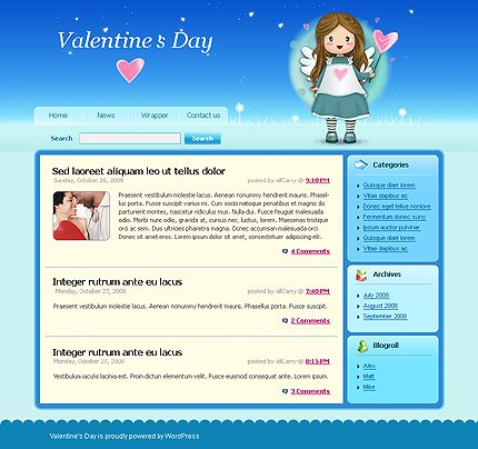 Valentine's Day WordPress Themes by Matrix