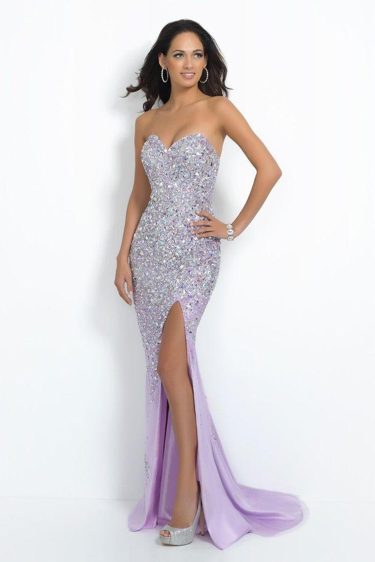 2015 Sweetheart Fully Beaded Bodice Of Crystals And Silver Stones With High  Slit Tulle Prom Dress