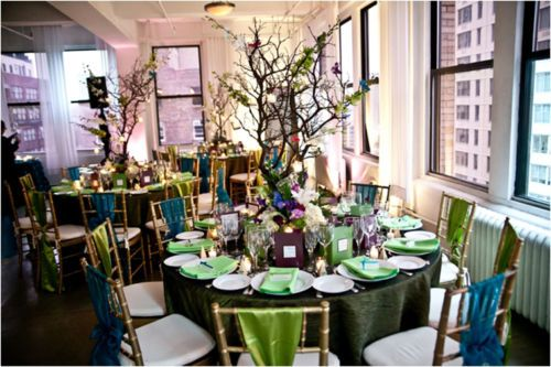 Manzanita branches tree centerpieces and on