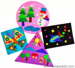 Many Shapes Picture craft - let kids be creative and learn shapes at the same time.