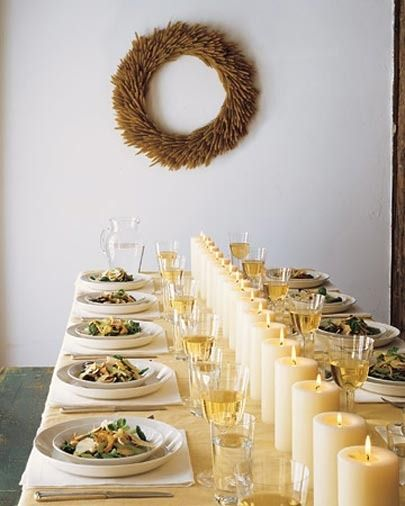 Simple and elegant table setting.