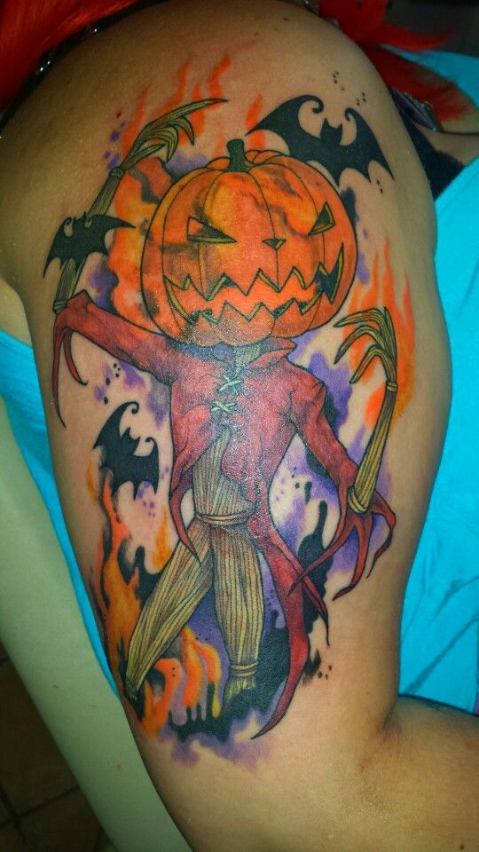 love Jack as The Pumpkin King!! all I need now is a Santa Jack tattoo ...