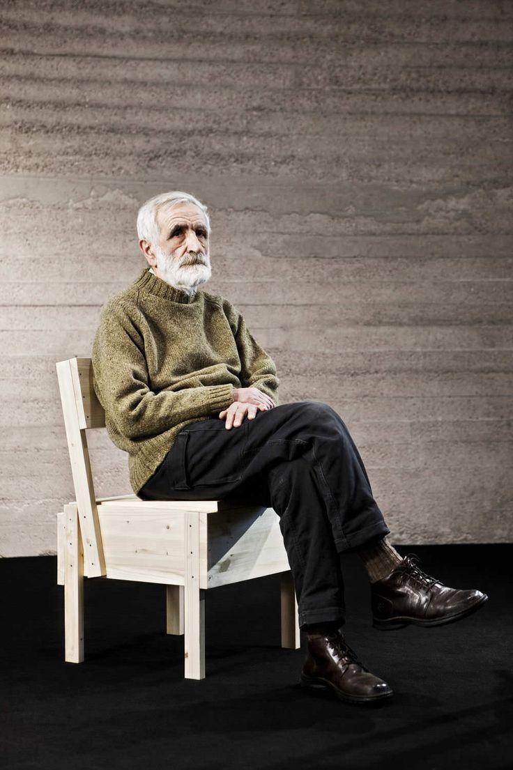 Contemporary chair / in wood / by Enzo Mari SEDIA 1  Artek
