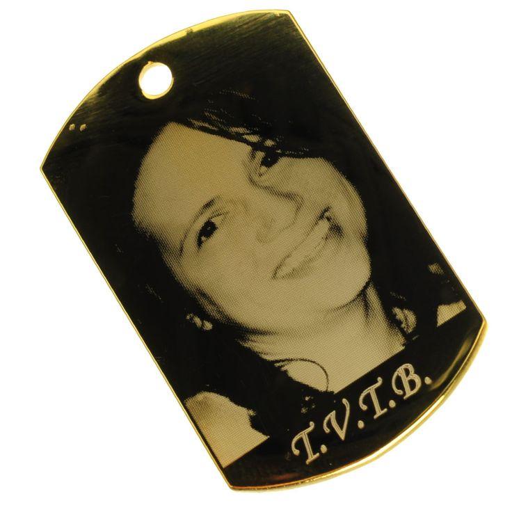 Pandantiv argint 925 placat cu aur gravat cu foto