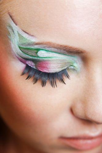 Profi make up Karneval rosa grün weiß