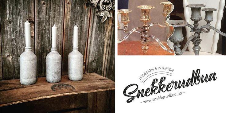 Snekkerudbua selger Nordic Chic kalkmaling og tilhørende produkter, samt holder kurs i hvordan du kan fornye møbler, dekor og interiør med ulike teknikker.