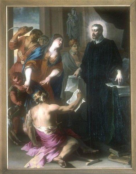 Saint Yves défendant les pauvres, Isaac Moillon, XVIIe siècle.