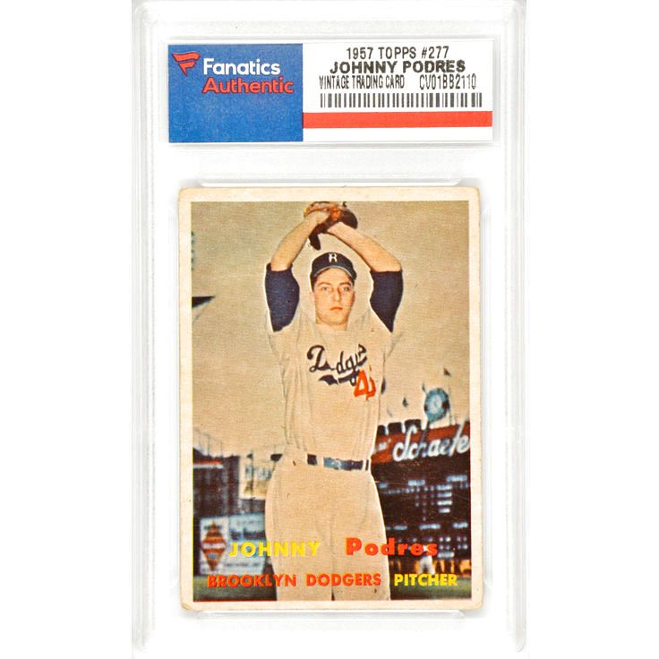 Johnny Podres Brooklyn Dodgers 1957 Topps #277 Card - $19.99