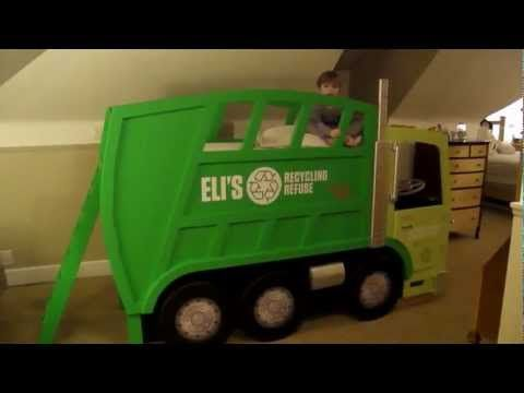 Elis Garbage Truck Bed - YouTube I wish he would give out the plans for this awesome garbage truck bed. The cab has gas pedal, steering wheel, lights, buttons and sound effects. It has flashing lights on the top and a siren light. It. is. so. cool.