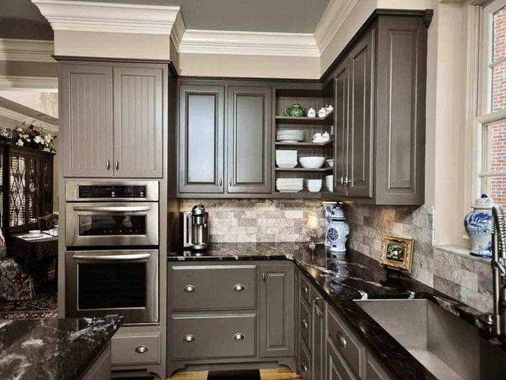 Black Counter Kitchen : ... Dark countertops, Black marble countertops and Black granite kitchen