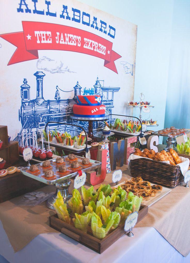 The menu included caesar salad in individual cups, mini meatballs, fruit cups…