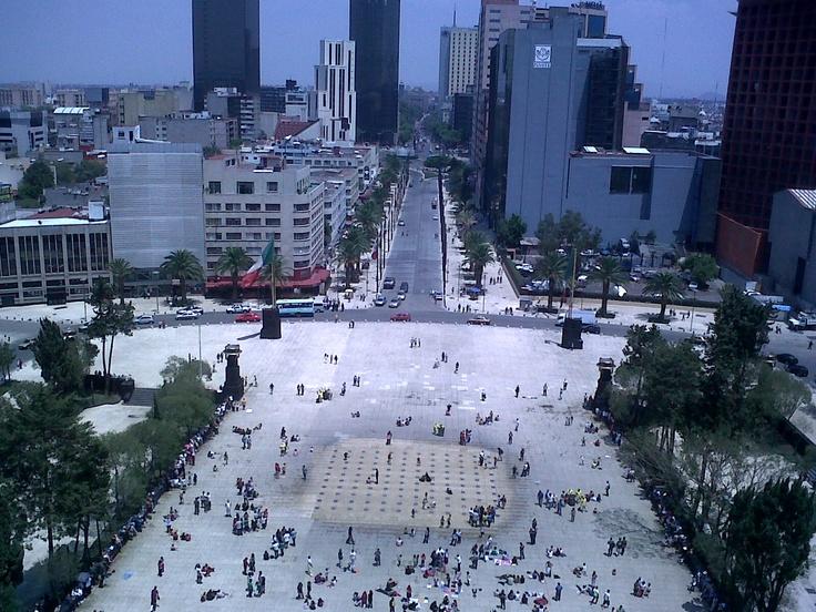 Plaza de la República vista desde el Monumento a la Revolución, México DF