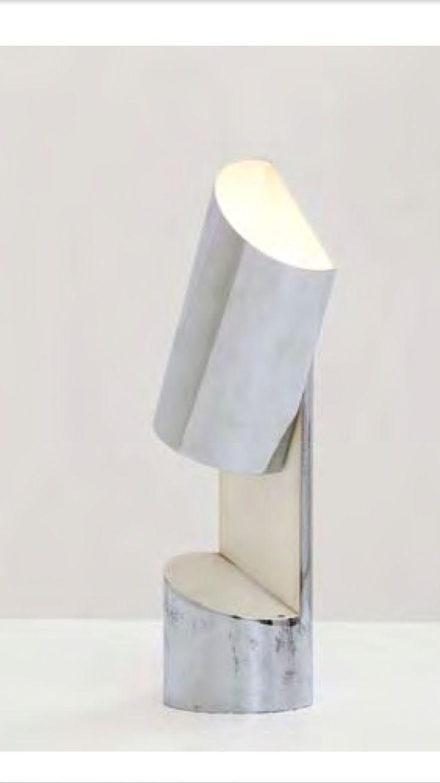 Pair of floor lamps produced by falkenbergs belysning ab in sweden at - Angelo Lelii Lampada Da Tavolo Metallo Cromato E Smaltato Prod Arredoluce 1960 Ca