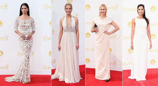 Los vestidos blancos del Emmy 2014
