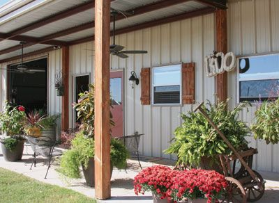 "Phillips barndo exterior - ""Barndominiums"" cost less and are faster to build, have virtually no external maintenance requirements and generally have lower insurance and taxes. Many owners also report much lower utilities.  Perfect Retirement Home Option!  Many families have discovered the practical benefits of living in a metal building-turned-house. Outside, it looks like a barn or shed; inside, there is a portion finished out as a living space."