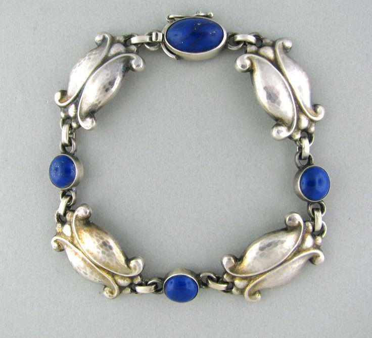 Georg Jensen sterling and lapis bracelet
