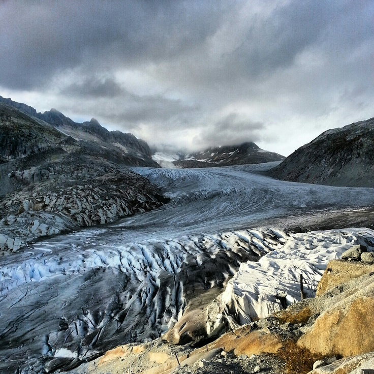Rhone glacier in dramatic light