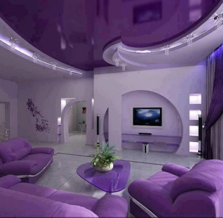 Amazing Purple Living Room