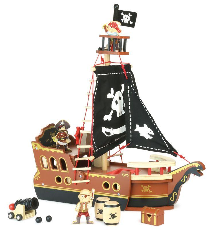BARCO PIRATA DE MADERA INFANTIL CON TODOS LOS ACCESORIOS Barco pirata estupendo y con un montón de accesorios para disfrutar de una aventura pirata. Juguete de gran calidad y acabados lacados preciosos cómo sólo Vilac es capaz de hacer #barcopiratamadera #barcomadreainfantil #Vilac http://www.babycaprichos.com/barco-pirata-de-madera-infantil-con-todos-los-accesorios.html