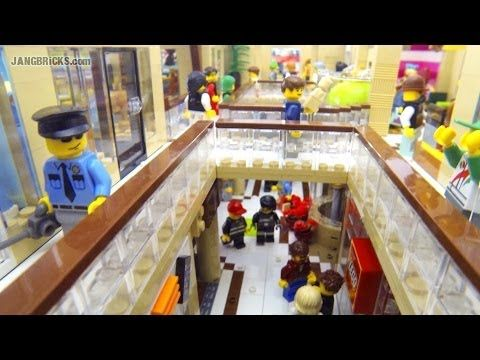LEGO Shopping MALL! 10,000 pcs, 17 shops, 2 stories, custom MOC! - YouTube