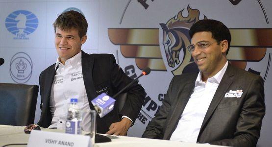 world chess championship 2014 Carlsen Anand