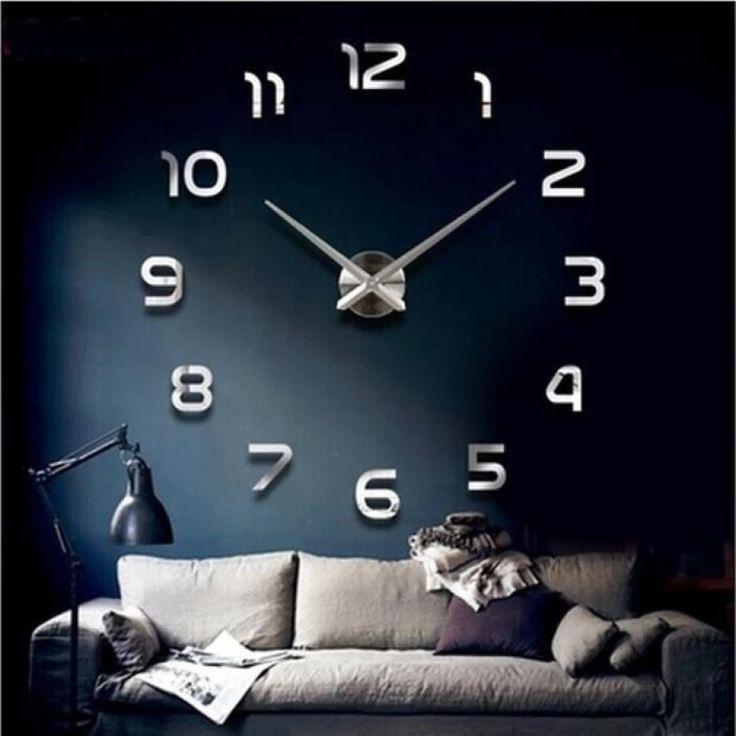 Mirrored Acrylic DIY Self Adhesive Interior Wall Creative Decoration Clock SL - intl | Lazada