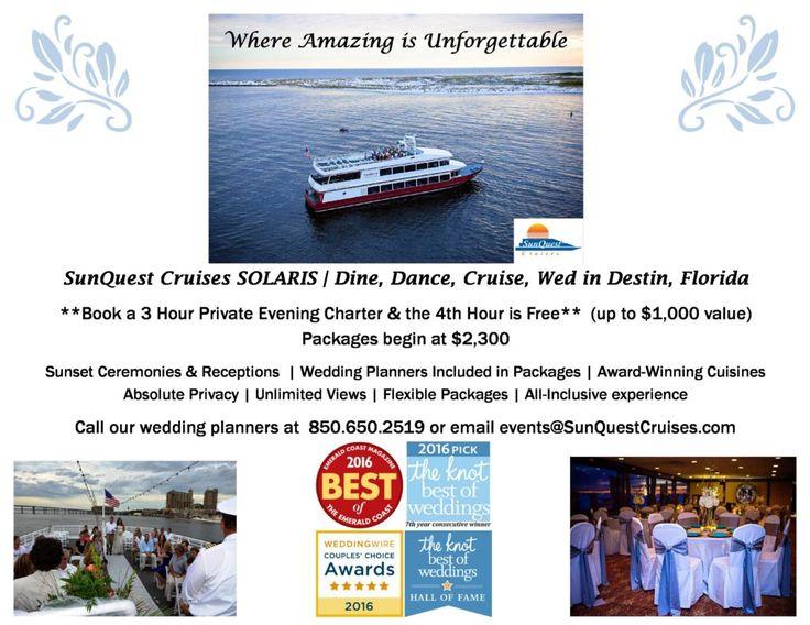 So Many Reasons To Say I Do Solaris Yacht Venue For Destin Weddings