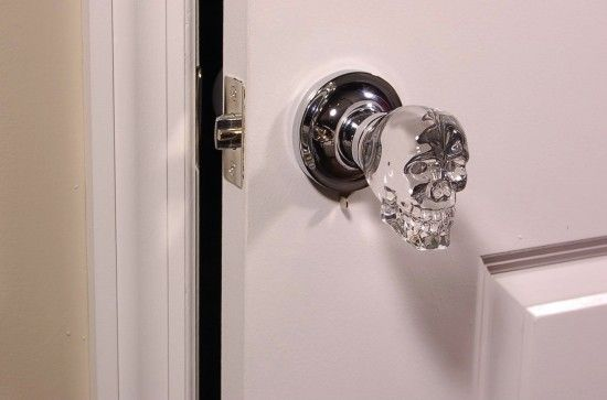 Best thing ever. Just don't care for the LED || Skull door knobs: creepy or the best thing ever? | Offbeat Home