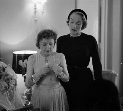 En la boda de Edith Piaff