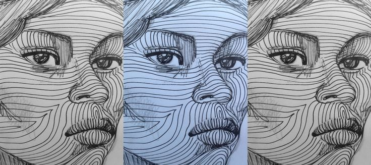 Day 51: line drawing portrait in the café