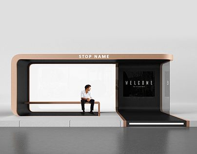 "Check out new work on my @Behance portfolio: ""Concept bus stop""…"