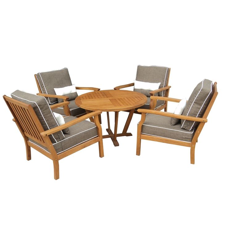mimosa 5pc deep seat lounge setting w/ cushions i/n 3240551 ... - Modulares Outdoor Sofa Island
