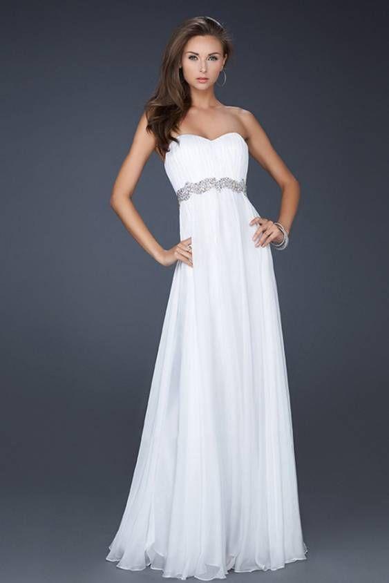 Long Formal Dresses For Teens | white-long-chiffon-prom ...
