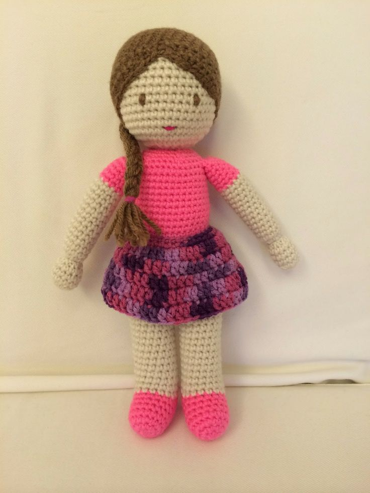 This amigurumi doll was made during a recent trip.