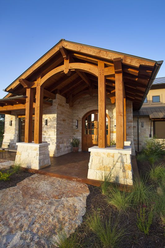 Timber Frame Entrance Archway Timberframe Home