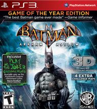 Batman: Arkham Asylum Game of The Year Edition 3D for PlayStation 3